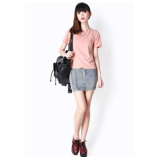 *2 for $15*  Aforarcade (AFA) Campbell Tee Top in Pink