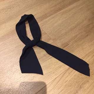 Black ribbon hair accessories