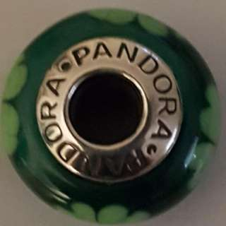 "Authentic Pandora 925s ale bead ""Kiss me I am Irish"""