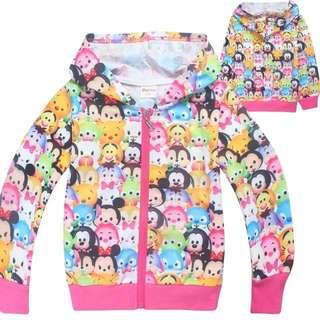 Tsum Tsum jacket long sleeve girls pink