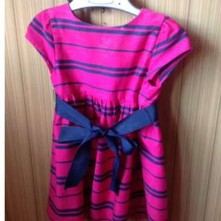 Ralph Lauren stripes sateen dress for girls