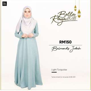 BELLA AMMARA🌸JUBAH @ $56🌸 OPEN ORDER NO MORE RESTOCK ONCE SOLD OUT❤️Buy 2 and get home courier for only $2 or buy 1 and get normal postage for 90 cents MINT
