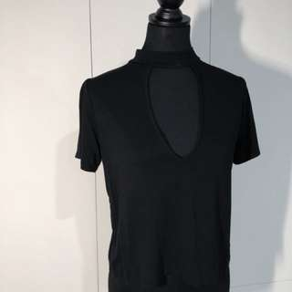 Black Cut-Out T-Shirt