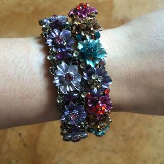 Flower vintage bracelet