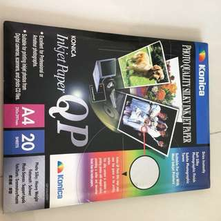 Konica 20 A4 photo paper on sale