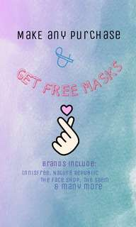Free Korean Facial Masks