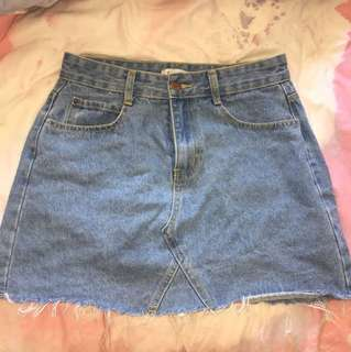 Denim Skirt - Size Medium