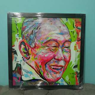 Acrylic Painting on Canvas Lee Kuan Yew
