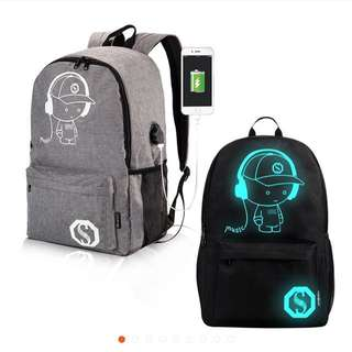 Tas glow in the dark