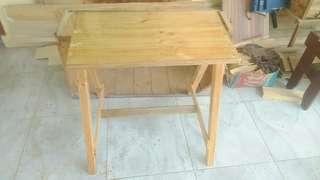 Meja minimalis dari kayu jati blanda