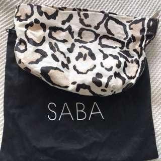 Saba Leopard Print Clutch