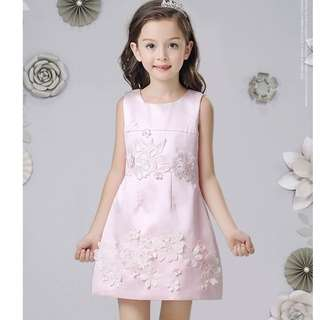 (Pre-order) Kids Princess Dress (Pink and Champagne) #513