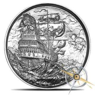 2 oz First Privateer Silver Round [LIMITED]