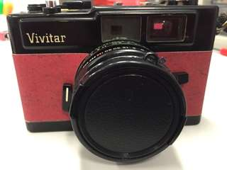 Vivitar film camera with custom skin