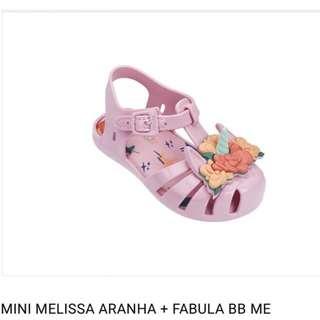 Mini Melissa aranha + fabula Bb me size 10