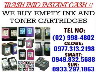 WE BUY EMPTY INK. AND TONER CARTRIDGES