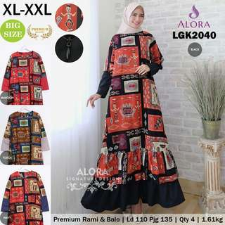 GAMIS PREMIUM BALOTELLY RAMI REMPLE SUSUN XL-XXL 20-40