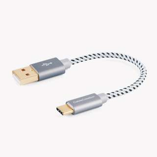 USB Type C to Type A Braided Cable (25cm) for the New Macbook 12-inch, Google ChromeBook Pixel