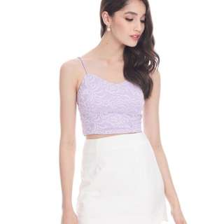 Luisa Lace Bralet in Lilac
