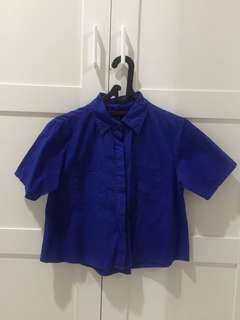 Crop Shirt Dark Blue