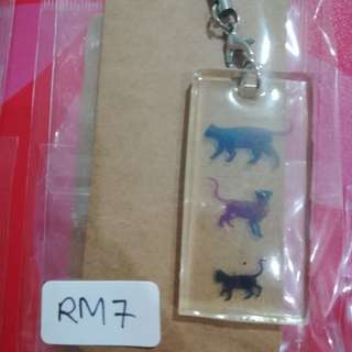 3 Cat keychain