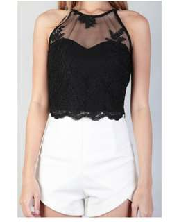 Heidi Lace Top in Black