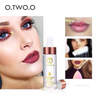 O.TWO.O 24k Makeup Primer Rose Gold Elixir Infused Beauty Oil
