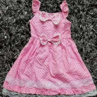 Zara Kids dotted dress 女童波點連身裙 蝴蝶結