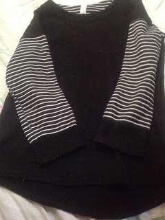 Korean black Top sweater  longsleeves