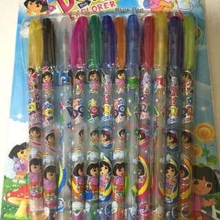 Dora The Explorer - Multi Colour Ink Pens