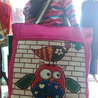 Tas thailand import motif owl