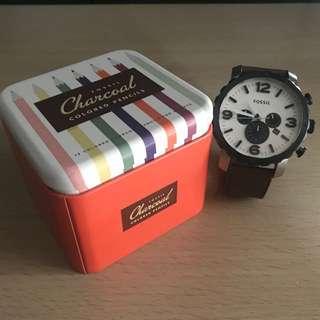 Fossil charcoal 男裝手錶