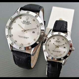 Jam tangan Rolex couple/jam tangan wanita & pria 100% real pict