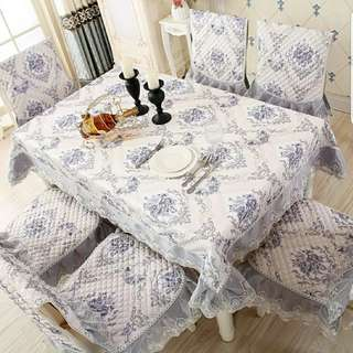 Taplak meja makan table cloth sarung kursi chair cover perlengkapan rumah dapur home decoration kitchen set dekor shabby shabbychic cover