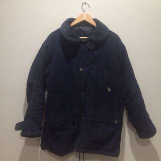 Navy corduroy winter jacket