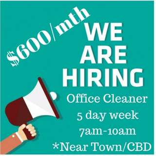 Part time Office Cleaner Job @ Raffles Place
