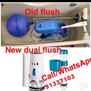 Toilet flush system replacement & Repair service 24 Hours contact 91337203