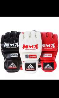 MMA groves Kick Boxing PU Leather Half Finger Fight Muay Thai Boxing Training Fitness Boxer Fight Equipment