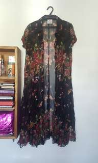 Floral chiffon coverup