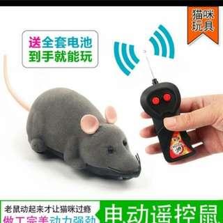 (2件/2pieces) 寵物貓玩具仿真電動遙控老鼠 (貓星推廣系列) (包Buyup自取站取貨)