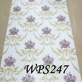 WPS247 WHITE N BROWN FLOWER