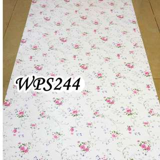 WPS244 WHITE PINK FLOWER RIBBON