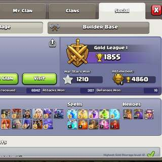 Clash of Clans max account 50/50/20