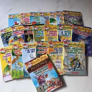 Geronimo Stilton Set  (21 books <$4.8 each)