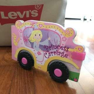 Girl princess carriage book
