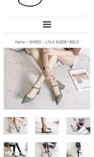 Shopjenith Lyla Suede Heels in Forest