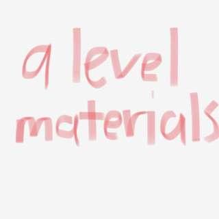 CHEAP A LEVEL MATERIALS