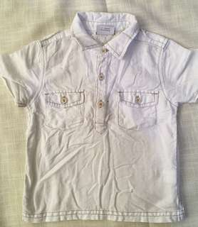 Charity Sale! Authentic NEXT Baby Girl White Polo Shirt size 12-18 Months
