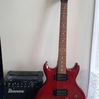 Ibanez Electric Guitar & Amp