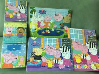 Peppa Pig jigsaw puzzle & colouring book